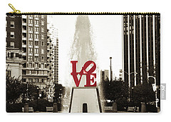 Love In Philadelphia Carry-all Pouch by Bill Cannon