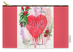 Carry-all Pouch featuring the painting Love In Your Heart by Marilyn Smith