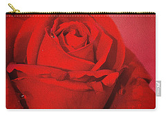 Love Is A Red Rose With Raindrops Carry-all Pouch by Diane Schuster