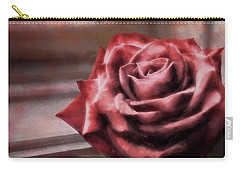 Carry-all Pouch featuring the photograph Love Is A Rose by Jim Hill