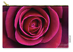Carry-all Pouch featuring the photograph Love Is A Rose by Linda Lees