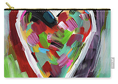 Carry-all Pouch featuring the mixed media Love Is Colorful 3- Art By Linda Woods by Linda Woods