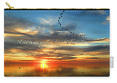 Carry-all Pouch featuring the photograph Love Is Endless Wonder by Cyryn Fyrcyd