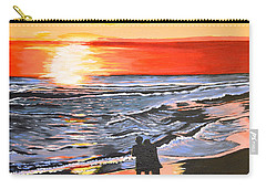 Carry-all Pouch featuring the painting Love Is In The Air by Donna Blossom