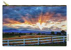 Carry-all Pouch featuring the photograph Love Is In The Air by James BO Insogna