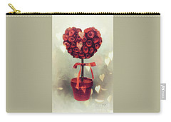 Carry-all Pouch featuring the digital art Love Is In The Air by Lois Bryan