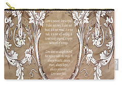 Carry-all Pouch featuring the digital art Love Is Patient by Angelina Vick