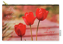 Carry-all Pouch featuring the photograph Love Is The Honey by Trina Ansel