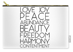 Love Joy Peace Beauty Virtues Carry-all Pouch