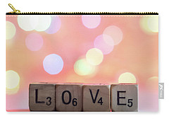 Love Lights Square Carry-all Pouch by Terry DeLuco