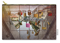 Love Lock Triangle At Naviglo Grande Milan Italy  Carry-all Pouch