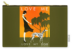Love Me Love My Dog - 1920s Art Deco Poster Carry-all Pouch