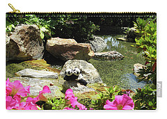 Carry-all Pouch featuring the photograph Love On The Rocks- Los Angeles- Pandas by Ausra Huntington nee Paulauskaite