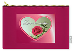 Carry-all Pouch featuring the digital art Love One Another Card by Sonya Nancy Capling-Bacle