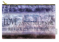 Carry-all Pouch featuring the digital art Love Rejoices With The Truth by Angelina Vick