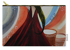 Love To Dance Abstract Acrylic Painting By Saribelleinspirationalart Carry-all Pouch