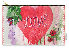 Carry-all Pouch featuring the painting Love Valentine by Marilyn Smith