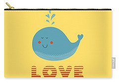 Love Whale Cute Animals Carry-all Pouch by Edward Fielding