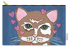 Loveable Cat Carry-all Pouch by Kathleen Sartoris