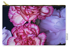 Lovely Carnation Flowers Carry-all Pouch by Ester Rogers