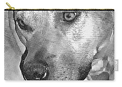 Carry-all Pouch featuring the drawing Lovely Dog by Lucia Sirna