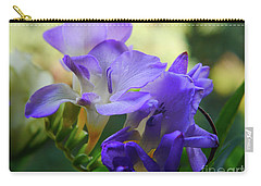 Carry-all Pouch featuring the photograph Lovely Freesia's by Lance Sheridan-Peel