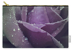 Carry-all Pouch featuring the photograph Lovely In The Rain by The Art Of Marilyn Ridoutt-Greene