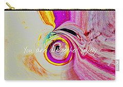 Carry-all Pouch featuring the mixed media Lovely by Jessica Eli