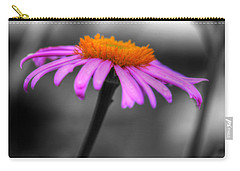 Carry-all Pouch featuring the photograph Lovely Purple And Orange Coneflower Echinacea by Shelley Neff