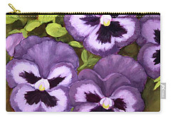 Lovely Purple Pansy Faces Carry-all Pouch