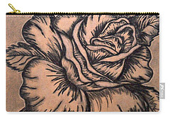 Lovely Rose Carry-all Pouch by Francine Heykoop