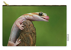 Carry-all Pouch featuring the photograph Lovely Water - Velvet Gecko by Nikolyn McDonald