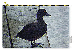 Carry-all Pouch featuring the digital art Lovely Weather For Ducks by Steve Taylor