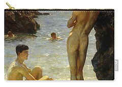 Lovers Of The Sun Carry-all Pouch by Henry Scott Tuke