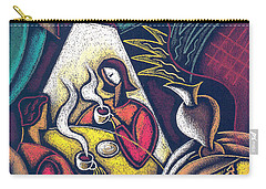 Carry-all Pouch featuring the painting Loving Relationship by Leon Zernitsky