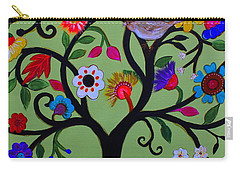 Carry-all Pouch featuring the painting Loving Tree Of Life by Pristine Cartera Turkus