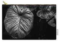 Low Key Nature Background, Textured Plants, Leaves For Decorativ Carry-all Pouch by Jingjits Photography