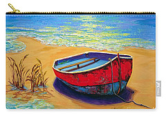 Carry-all Pouch featuring the painting Low Tide - Impressionistic Art, Landscpae Painting by Patricia Awapara