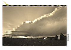 Low-topped Supercell Black And White  Carry-all Pouch