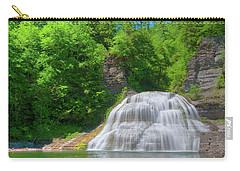 Carry-all Pouch featuring the photograph Lower Falls 0485 by Guy Whiteley
