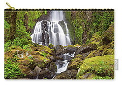 Carry-all Pouch featuring the photograph Lower Kentucky Falls In Spring by Patricia Davidson