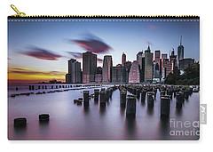 Lower Manhattan Purple Sunset Carry-all Pouch