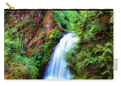 Lower Multnomah Waterfall In The Columbia River Gorge Carry-all Pouch