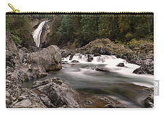 Carry-all Pouch featuring the photograph Lower Twin Falls by Jeff Swan