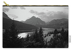 Lower Two Medicine Lake In Black And White Carry-all Pouch