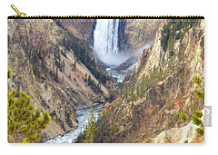 Lower Yellowstone Falls From Artist Point Carry-all Pouch