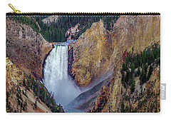 Carry-all Pouch featuring the photograph Lower Yellowstone Falls II by Bill Gallagher