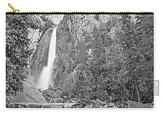 Lower Yosemite Falls In Black And White By Michael Tidwell Carry-all Pouch