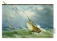 Lowestoft Trawler In Rough Weather Carry-all Pouch by John Moore