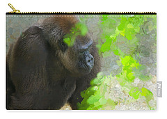 Carry-all Pouch featuring the painting Lowland Gorilla by Judy Kay